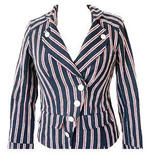 Forever 21 coat jacket nautical blue size S